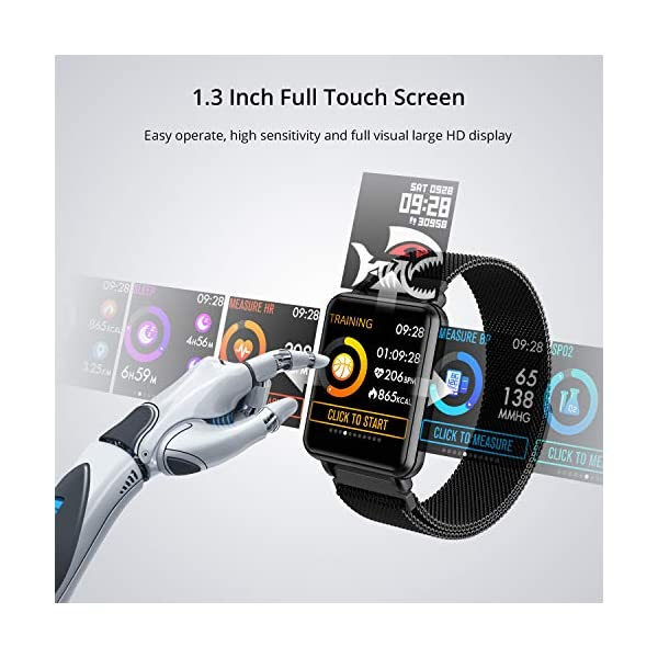 Fashion Shopping COLMI Smart Watch Full Touchscreen Smartwatch for Women Men, IP68 Waterproof Fitness