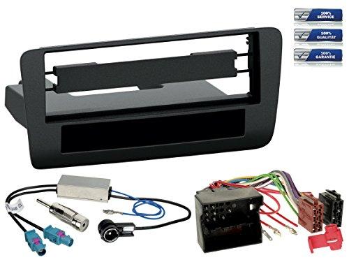 NIQ Autoradio Einbau-Komplettset geeignet für Audi A1 (Typ 8X) Bj. 2010-2012 *schwarz*