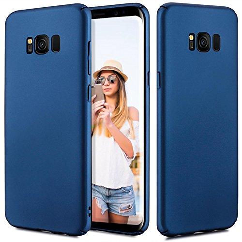 Preisvergleich Produktbild Conie Basic Slim Cover kompatibel mit Samsung Galaxy J3 2017,  Extra dünne Anti Fingerprint Hülle Schutzhülle Rutschfeste Oberfläche (Blau Matt Finish)