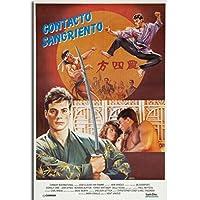 ブラッドスポーツ1988クラシック映画ヴィンテージ絵画ポスタープリントキャンバス壁の写真ホームルームの装飾壁アートキャンバスプリント50x70cmフレームなし