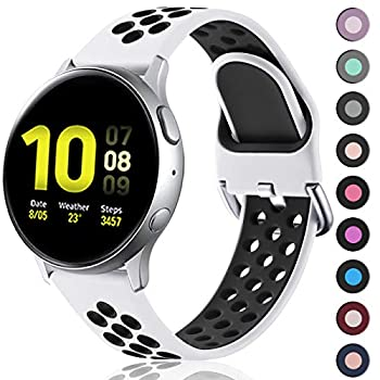 Lerobo Compatible for Samsung Galaxy Active/ Active 2 Watch Bands 44mm 40mm,20mm Silicone Sports Wristband Replacement Straps for Galaxy Watch 42mm/ Gear S2 Classic/ Gear Sport Smart Watch,Large