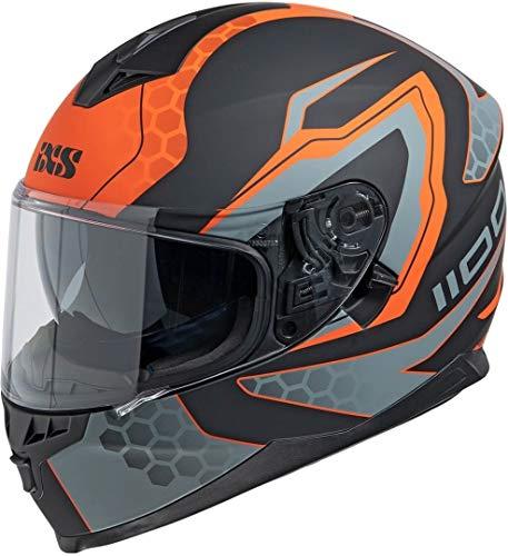 IXS 1100 2.2 Casco Nero opaco/Arancione