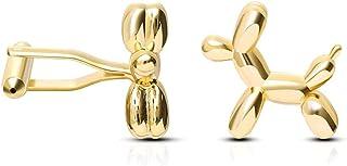 XJJZS Mode Matière Ballon Boutons de Manchette en Gros de Boutons de Boutons de boutonniers à Ongles (Color : Gold)