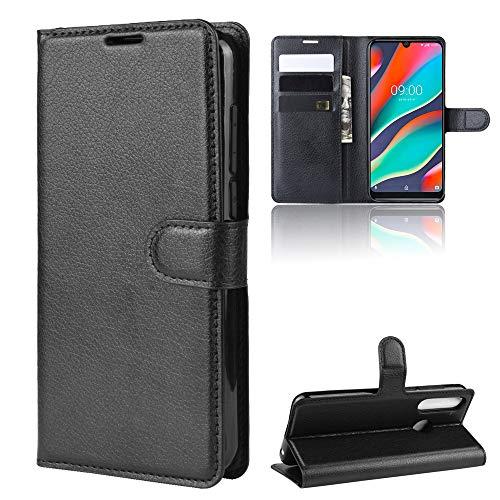 LZS Hülle für Wiko View 3 Pro Leder Flip-Cover Handyhülle Brieftasche mit Kartensteckplatz & Stand Magnetverschlus Kompletter Schutz Wiko View 3 Pro Handy Case