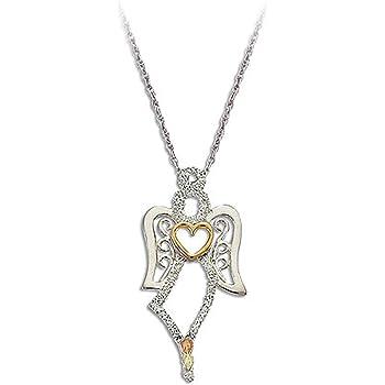Landstroms Black Hills Silver Heart Necklace with Onyx Heart Pendant MRLPE919 18