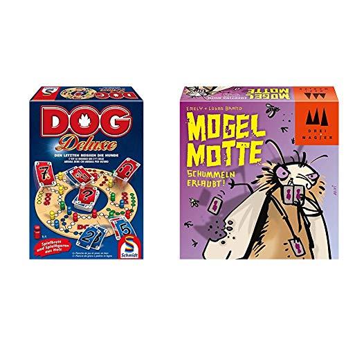 Schmidt Spiele 49274 Dog Deluxe & 40862 Mogel Motte, DREI Magier Kartenspiel