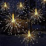 Luces LED de fuegos artificiales, alambre de cobre 120 luces LED a prueba de agua flash de Navidad sala de control remoto, jardín, terraza, boda, fiesta, decoración de...