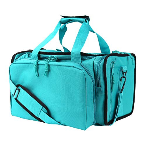 OSAGE RIVER Tactical Range Bag for Handguns and Hunting, Travel Duffel, Standard Duty, Teal and Black