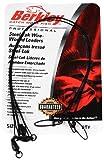 Berkley Wire-Wound Steelon Leaders 6' Length, 30 lb Line Tested, Black, Per 3