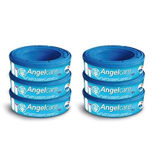 Angelcare 6 Nachfüllkassetten für Windeleimer Comfort, Deluxe und Comfort Plus