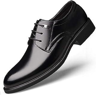 [HUSGC] ビジネスシューズ 紳士靴 メンズ ストレートチップ スクエアヒール レースアップ ローカット ドレスシューズ 走れる ファッション 滑り止め 大きいサイズ 柔軟 通気快適 長持ち エレガント 披露宴 宴会 忘年会