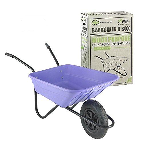 The Walsall Wheelbarrow Company Trilanco Gran Carretilla 90 litros, púrpura, Lila,...