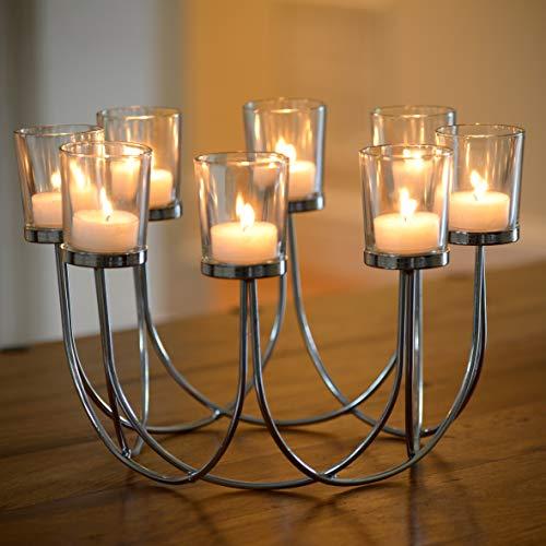 Beau thé lumière verre bougeoir mariage décoration de table de table de Noël décoration