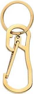 Garneck Llavero Mosquetón Forma D Llavero de Acero Inoxidable Llavero de Metal Llavero Ganchos de Liberación Rápida para H...
