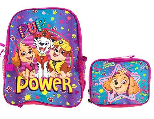 Paw Patrol Girls Pup Power 16' School Pink Backpack Lunch box Set Book Bag Kids Children