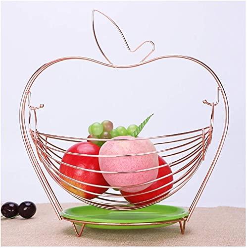 leoye Fruit Bowls Fruit Plate Fruit Bowl Dried Fruit Plate Home Living Room Decoration Candy Dish Drain Fruit Basket Cooyele (Color : Metallic)