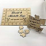 FSSS Ltd Personalised wooden 24 piece guest book jigsaw puzzle keepsake wedding birthday