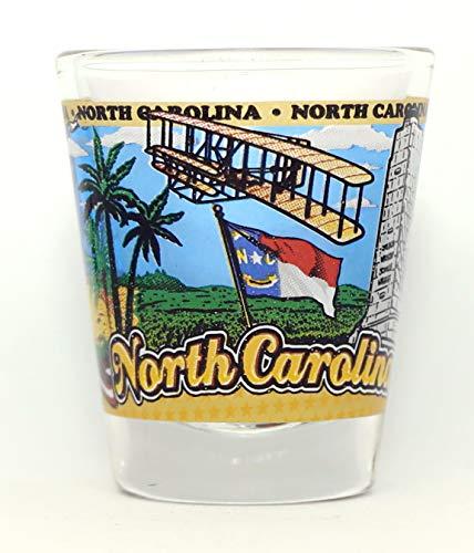 North Carolina State Wraparound Shot Glass