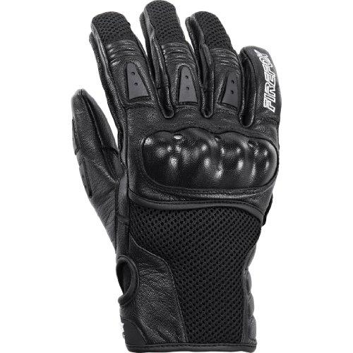 Firefox Motorradhandschuhe kurz Motorrad Handschuh Sport Leder-/Textilhandschuh 1.0 schwarz 8,5, Unisex, Sportler, Sommer, Leder/Textil