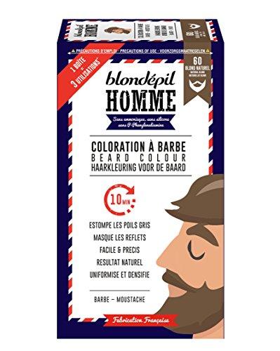 Blondépil Homme Coloration A Barbe Blond Naturel Barbe/Moustache Kit 3 Utilisations Lot de 2