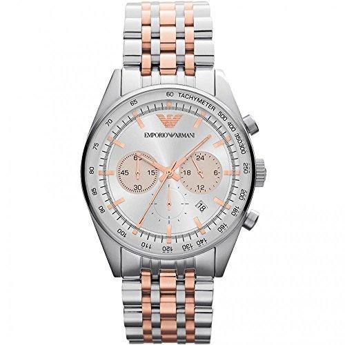 Relógio Emporio Armani AR5999 prata dourado rosê masculino