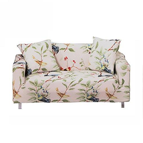 ENZER Sofa Bezug 1 2 3 4-Sitzer-Bettüberwurf Sessel Blumen Vogel Easy Stretch Elastischer Stoff Sofa Couch Cover Protector,3-Sitzer,Elster
