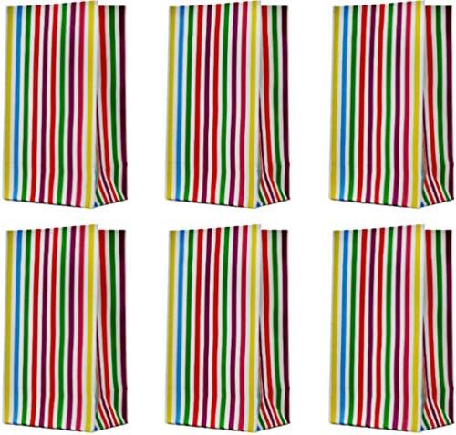 Moji 25-teilig Geschenktaschen Set Papiertüten Bunt Geschenktüten Kindergeburtstag Gastgeschenk Tüten Candybar Tüten Verpackung für Geschenke Papier Sackerl