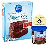 Pillsbury Sugar Free Devil's Food Moist Supreme Cake Mix and Cupcake Mix with Frosting and 1...