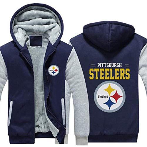 CCKWX NFL Hoodie, Pittsburgh Steelers Football Kleidung Langarm-T-Shirt Gedruckt Kapuze Langarmshirt Komfortabel Sweatshirt,D,XL