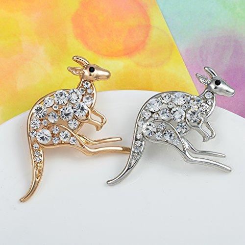 F Fityle Moda para Mujer, Animal Natural, Preciosa Aleación, Diamantes De Imitación,...