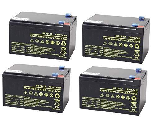 FLA Electronic Kit de 3 batteries au plomb cyclique 12 V 12 Ah Rechargeable pour vélos électriques 48 V 12 Ah Originales