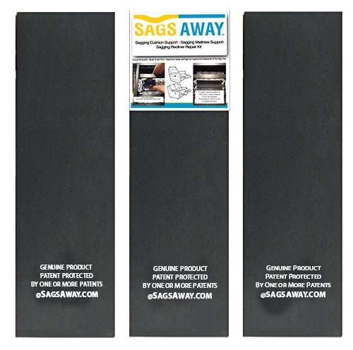Industrial Strength Sagging Recliner DIY Repair Kit. No Tools Required. High Density, Flexible Foam Padding Reinforcement. Three Firm Support Boards Per Set Per Seat To Extend the Life Of Your Cushion