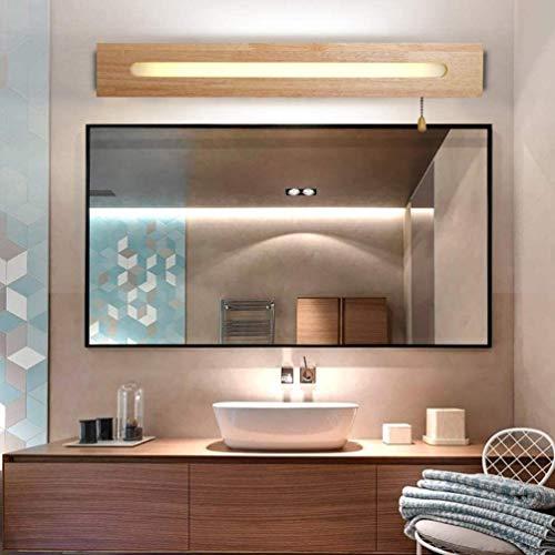 Applique Salle de Bain avec Interrupteur Dimmable Lampe Miroir LED 55cm Moderne Appliques Murales Interieur en Bois Lampe Murale Chambre Enfants(Blanche Chaude/Blanc Neutre/Lumière Blanche)