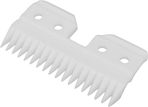 Professional Replacement Blade Cutter for Fast Feed 18 Teeth Ceramic Moving Blade Grooming Tools Replacement Ceramic Cutters for Pets Human Fits AG A5 Hair Clippers Off White 1 Pieces