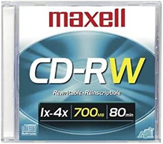 Maxell CD-RW 700MB Slim Case 80 Minutes DVD Storage Case (630010)