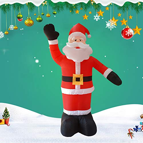Happyshop 18 Santa Claus Inflatable Model, Santa Inflatable Outdoor, 7.9Ft Christmas Inflatable Santa Claus Blow-Up Yard Decoration