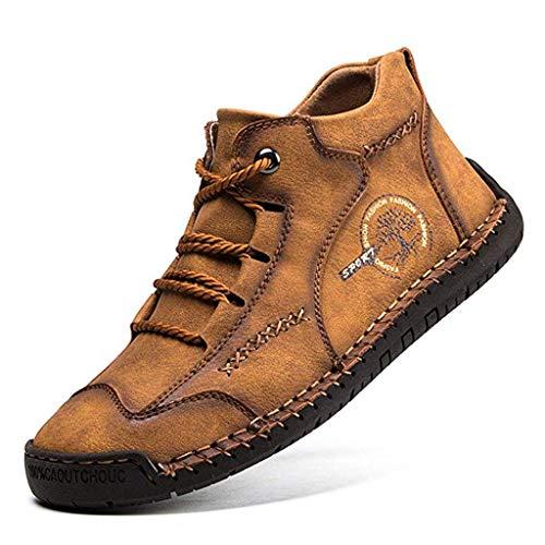 LuckyGirls Zapatos Casuales para Hombre al Aire Libre Mocasines Suaves Transpirables de Confort Vintage Zapatos de conducción