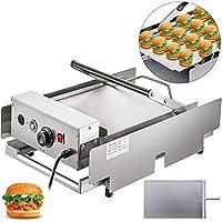 """【QUALITE SUPERIEURE】- Fabricant de petits pains à hamburger, en acier inoxydable non magnétique entier, 26.8""""x16.9"""" x13.0""""(680x430x330mm) en dimensions. Doté de doubles plaques en fonte d'aluminium 【CHAUFFAGE EFFICACE】- Le grille-pain à hamburger ado..."""
