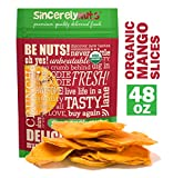 Sincerely Nuts Dried Organic Mango Slices (3 LB)- Gluten-Free Food, Vegan, and Kosher Snack-Nutritious and Satisfying Tropical Fruit-High in Vital Nutrients-Healthy Alternative for Sweet Tooth