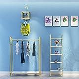 Riel para ropa de alta resistencia, estante de exhibición de ropa, estante de riel industrial, tubo de metal/ahorro de espacio/sin óxido/extraíble, adecuado para el hogar o sala de exposici