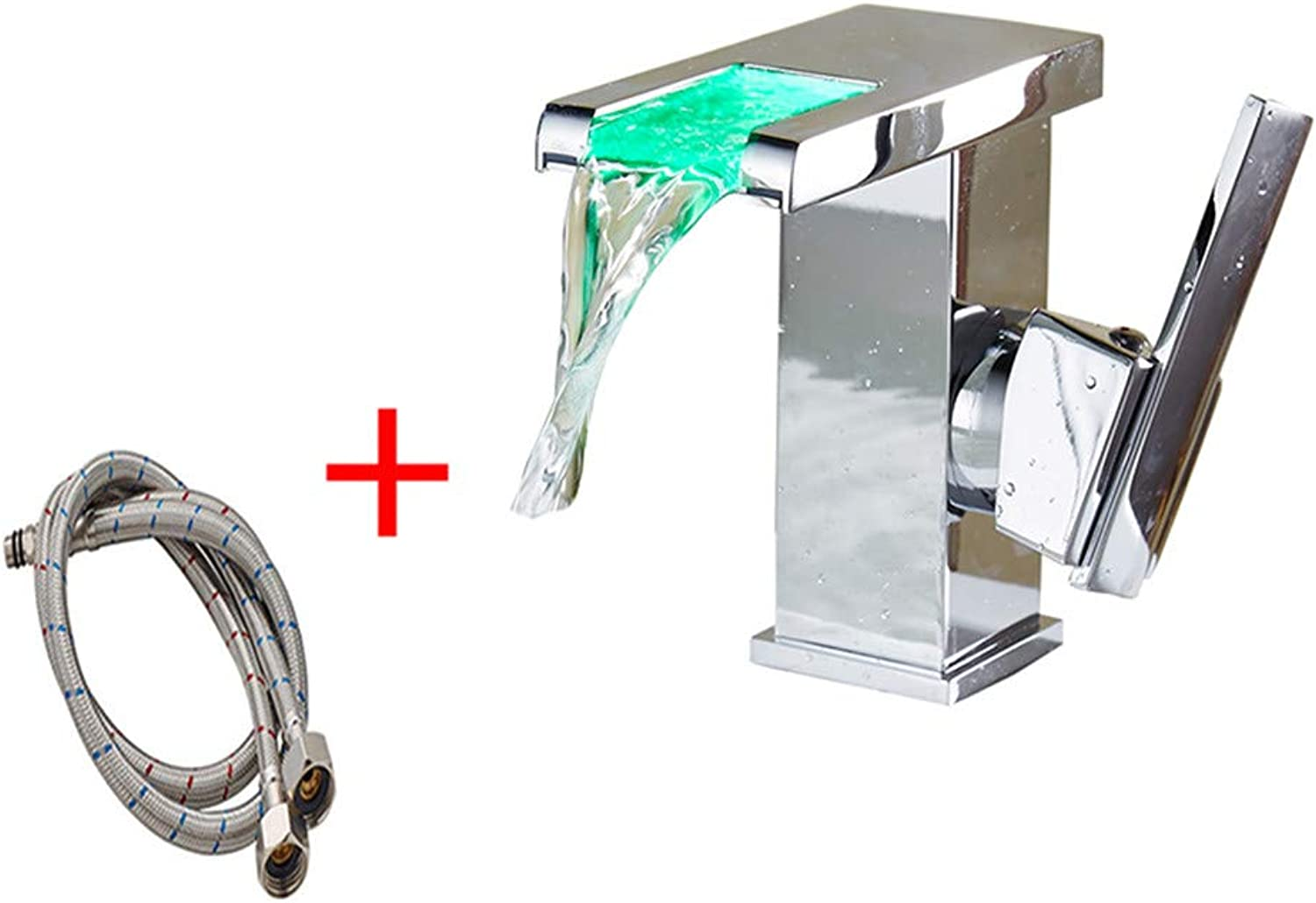 Good quality Water faucet basin mixer waterfall single hole basin faucet Hot and Cold washing your face hand basin toilet bathroom personality creative faucet +60 Hose