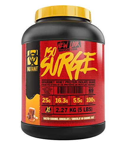 MUTANT ISO SURGE – Whey Protein Powder that Acts Fast to Help Support, Recovery, Muscle Building, and Strength – High-Quality Ingredients Only – 2.27 kg – Salted Caramel Chocolate