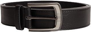 Duke London Mens Big King Size Black Bonded Leather Belt