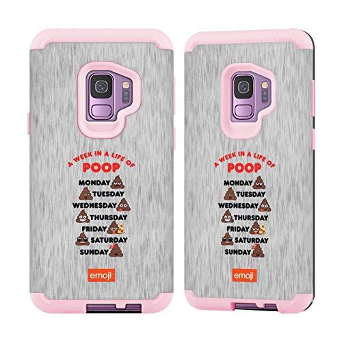 Officiële emoji® Life Of Poop Trendy Light Pink Guardian Case Compatibel voor Samsung Galaxy S9