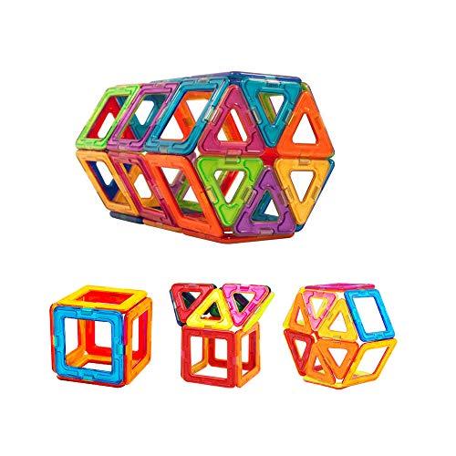 NWQEWDG Magnetische Bausteine, Bausteine, Spielzeug, DIY-Bauspielzeug, pädagogisches Spielzeug für Kleinkinder und Kinder, zufällige Farbe, 3 Stück