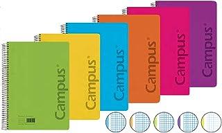 10 unidades A6 Campus University 001114-048 Bloc de notas perforado cuadriculado