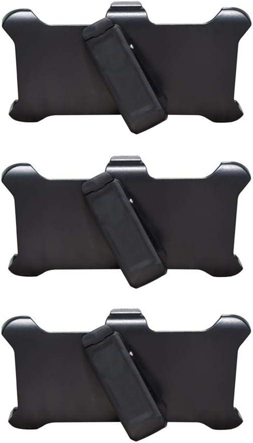 HIQUE 3 PCS Replacement Belt Clip Holster [Compatible for Defender Case] Kickstand for 6.1
