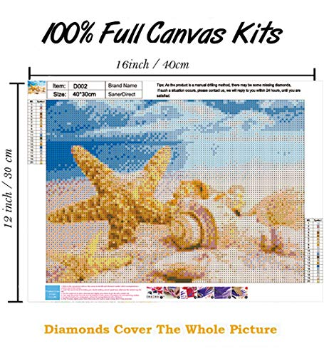 SanerDirect 4 Pack 4 Seasons Diamond Painting, Landscape Full Drill Paint with Diamonds 12x16 inch Mississippi