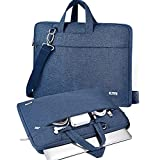 V Voova Laptop Bag Case 13 13.3 Inch with Shoulder Stap,Slim Computer Sleeve Compatible with 2018-2021 MacBook Air/Pro M1,13.5 Surface Book 3/Laptop 4,Chromebook,XPS 13,Jumper 13.3 Notebook,Blue