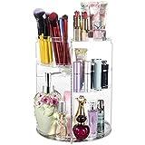 QINGQING Caja de Maquillaje,rotación de Escritorio 360,Caja de Almacenamiento de cosméticos,se Puede superponer con Compartimentos,Hermosa y práctica